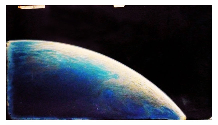 Earth original matte painting for star trek the motion for Space matte painting